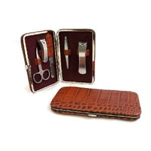 5 Piece Manicure Set, Brown