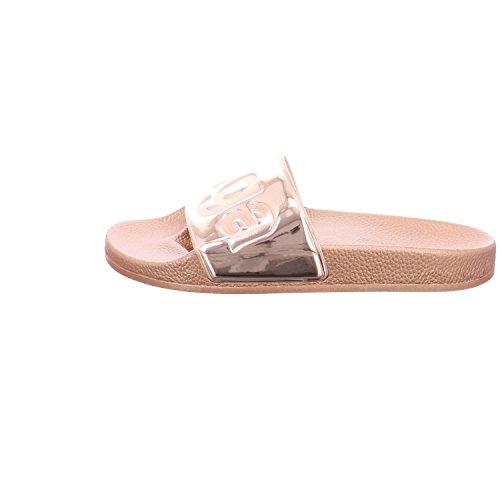 Superga Unisex-Erwachsene Slides Metallic Slipper Rose