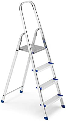 FRAMAR Europiuma 4 Escalera doméstica de Aluminio, 4 Peldaños ...