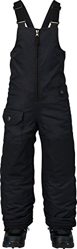Burton Boys Minishred Maven Bib Pants, True Black, 4T