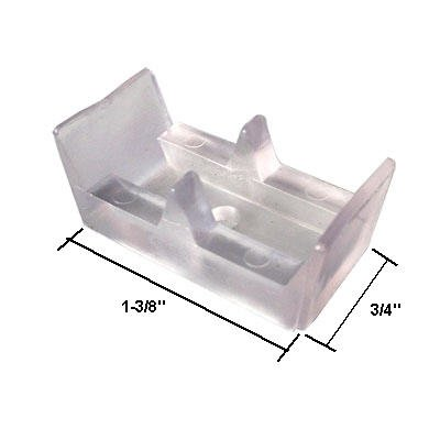 Framed Sliding Shower Door Clear Bumpers - (Set of 2)
