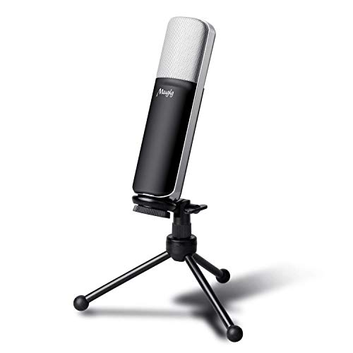 Mugig Condenser USB Microphone for PC Laptop with Tripod Stand Portable Wired Recording USB Mic, Perfect for Home Studio, Steam and Yutuber