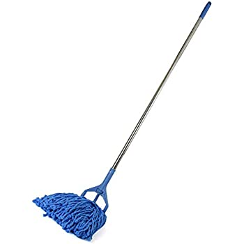 """UPIT 56"""" Long Large Commercial Premium Heavy Duty Microfiber Industrial Strength Wet Mop Handle Stand and Head Refill Replacement (Mop SET)"""