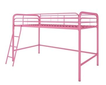 Bunk Beds for Kids Toddler Twin Junior Metal Loft Pink Your Child Will Sleep in Style and Great Solution for Your Space Saving Needs by HomeTeks