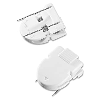 ADVANTUS Panel Wall Clip for Fabric Panels, Standard Size, 40-Sheet Capacity, Pack of 20, White (75301)