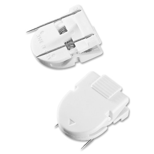 (ADVANTUS Panel Wall Clip for Fabric Panels, Standard Size, 40-Sheet Capacity, Pack of 20, White)