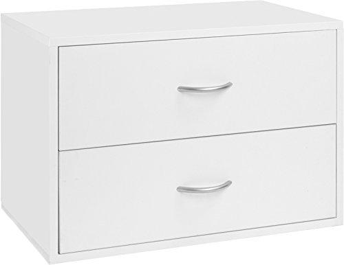 Organized Living freedomRail 2 Drawer OBox - White ()