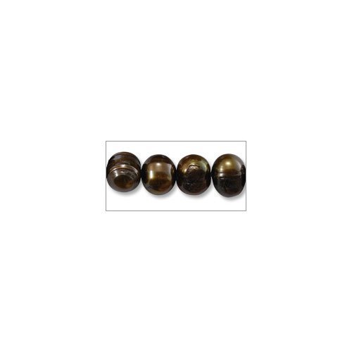 Bronze Potato Pearls - Freshwater Potato Pearl Dark Bronze Mix 9-10mm (16
