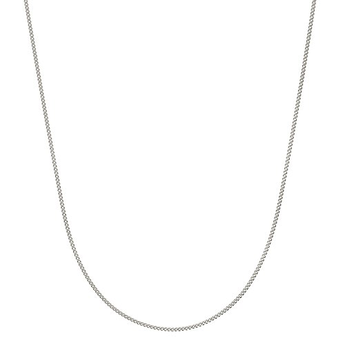 Sterling Silver Italian 1.2mm Diamond-Cut Cuban Curb Chain Necklace - 20