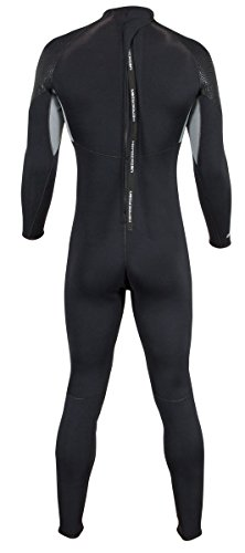 Men's Thermoprene Pro Wetsuit 3mm Back Zip Fullsuit Black by Henderson (Image #2)