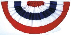 Pleated Full Fan Bunting Cotton 3 ft. x 6 ft.