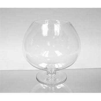 Amazon Wgv Clear Brandy Wine Shaped Bubble Bowl Glass Vase On
