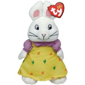 Ty Beanie Babies Max & Ruby - Ruby + Free Pack Of Princess Shaped Silly - Ruby Baby Beanie Ty