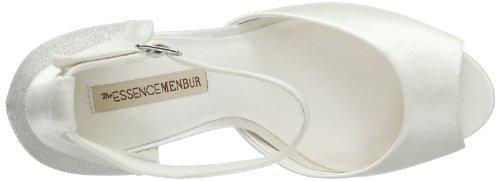 Menbur Wedding Gisela - Zapatos de pulsera Mujer Hueso (Elfenbein (Ivory 04))