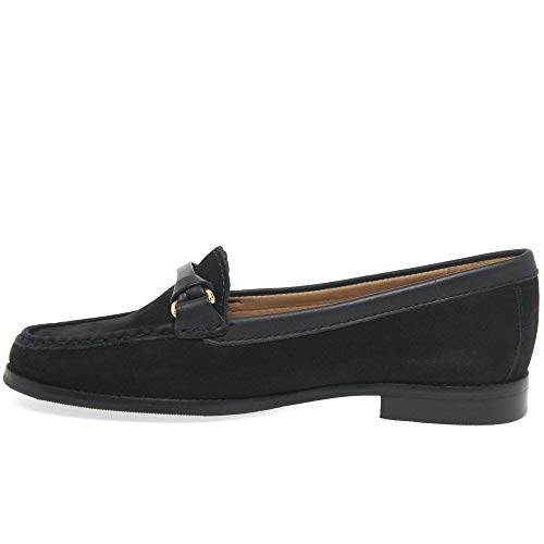Maria Nubuck Loafers Black Moccasin Horsebit Lya Leather Leather Dalby Womens HwqHxUr