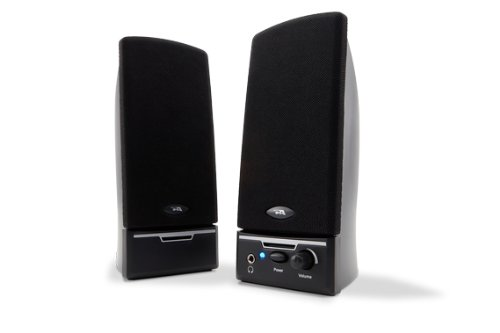 Cyber Acoustics CA-2012 2.0 Desktop PC computer speakers 3 Piece Desktop Speaker System