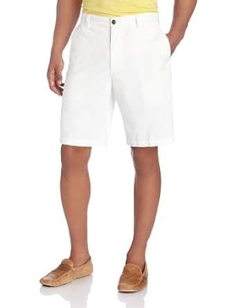 Dockers Men's Perfect Short D3 Classic Fit Flat Front, White Cap, 36W