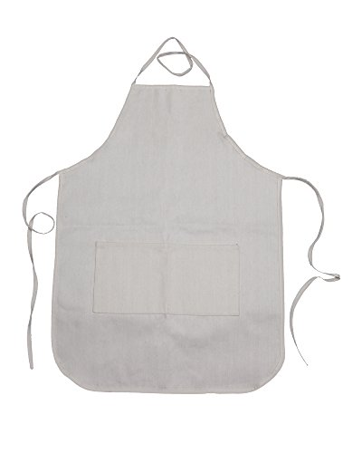 Canvas Adult Apron with Pocket 20''x28'' 100% Cotton - Pack of 12 by Bumble Crafts