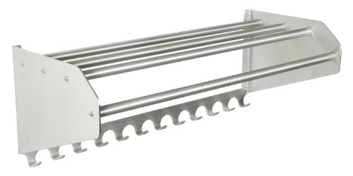 Ex-Cell Kaiser 707-48AC Aluminum Wall Mounted Coat Rack with Additional Hook Panel, 48