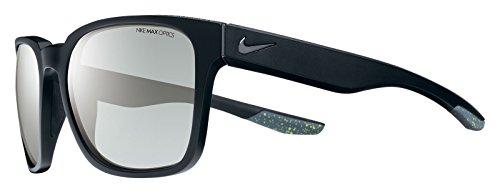 Nike EV0875-001 Recover R Sunglasses (One Size), Matte Black/Gunmetal, Smoke with Super Silver Flash Lens