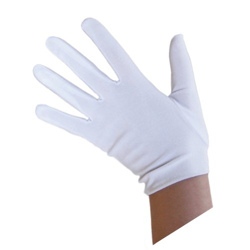 SeasonsTrading Child White Costume Gloves ~ Halloween Costume