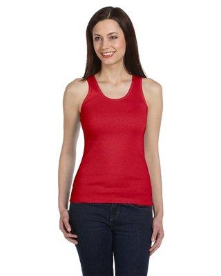 Bella+Canvas Ladies' 2x1 Rib Tank Top - Red - M