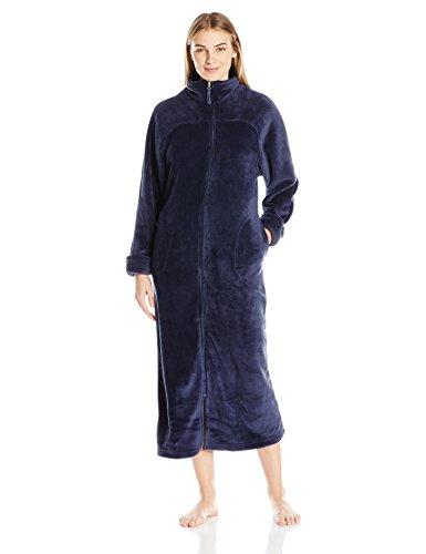 Casual Moments Womens 52 Breakaway Zip Front Robe