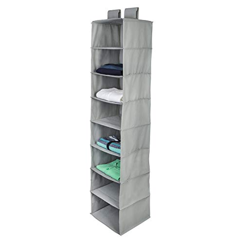 Honey-Can-Do SFT-01100 8-Shelf Hanging Organizer, Gray - Shelf 8 Hanging Organizer