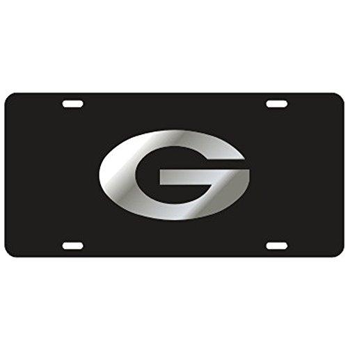 Laser Cut Tag - Georgia Bulldogs Black Laser Cut License Plate - Mirror G