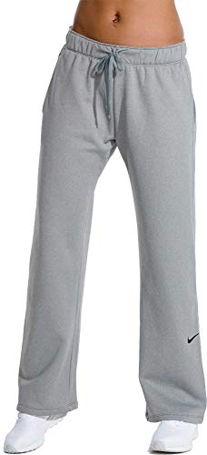 NIKE Women's Therma Fleece Training Pants,(Cool Grey,Medium)