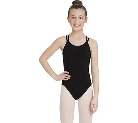 Capezio Dance Girls' Double Strap Camisole Leotard (Set of 2),Black,US L