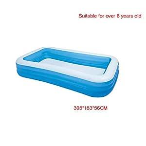HOMESROP 305 * 183 * 56cm-Family Pool Piscina Infantil Inflable ...
