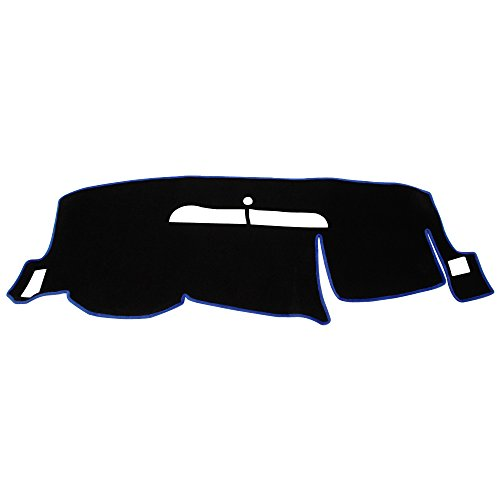 Hex Autoparts Dash Cover Mat Dashboard Pad for 2008-2013 Chevy Silverado LT HD WT 4x4 (Black)