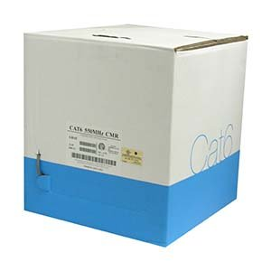 Arrowmounts AM-Cat6-Bulk-000GY 1000' Cat 6 Cat6 Solid Wire Bulk Ethernet LAN Network Cable Gray CMR