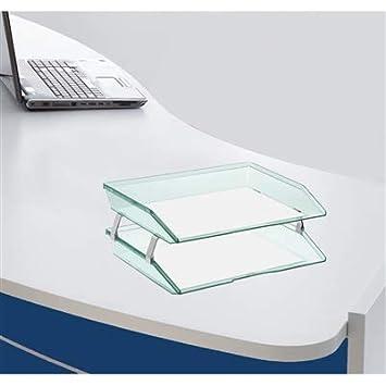Acrimet Facility Briefablage doppelt Querformat Design A4 format Transparente Gr/ün