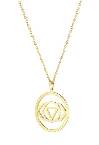 Daisy Gold Plated Brow Chakra Long Necklace