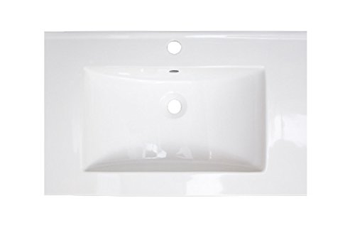 American Imaginations AI-5-1744 Ceramic Top for Single Hole Faucet, 25-Inch x 22-Inch, White from American Imaginations