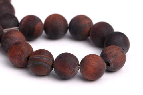 6mm Natural Matte Mahogany Red Tiger Eye Beads Grade A Round Loose Beads 7'' Crafting Key Chain Bracelet Necklace Jewelry Accessories Pendants
