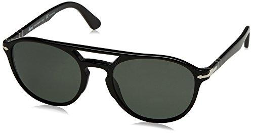 Persol  Men's 0PO3170S Black/Polarized Green - Sunglasses Keyhole Persol