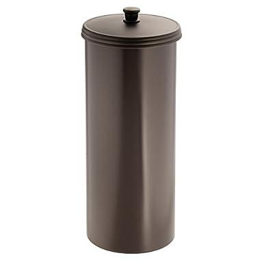 InterDesign Kent Bathware, Free Standing Toilet Paper Roll Holder for Bathroom Storage - Brown