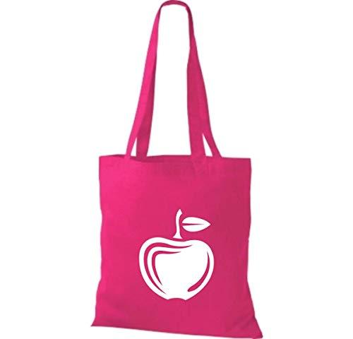 42 X En Préféré Tissu Légumes Shirtinstyle Coton Sac Fruits Rose 38 Et Votre Cm Apple 6wxp5OZp