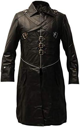 Steampunk Black Punk Victorian Renaissance Gothic Long Coat