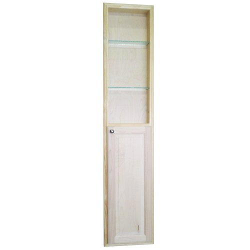 WG Wood Products Recessed Manhattan Pantry Storage Cabinet with 36'' Shelf & 3.5'' Deep, 72'', Unfinished by WG WOOD GROUP (Image #1)