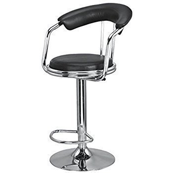 AV Sasti Dukan Height Adjustable Stool, Black