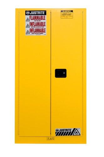 Justrite Sure-Grip Ex Vertical Drum Storage Cabinet With Rail Bottom- 34X34x65