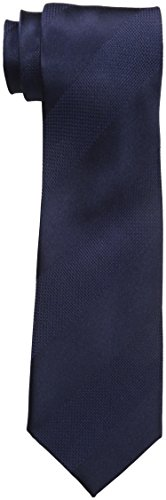 Sean John Men's Dressy solid Stripe Tie, Navy, One Size
