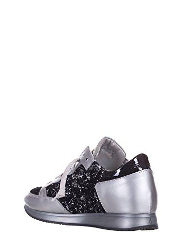 Modello Philippe, Sneaker Da Donna Argento Argento / Nero