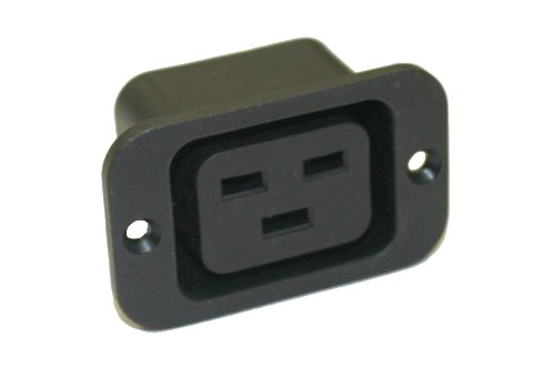 Interpower 83011351 IEC 60320 Sheet J Power Outlet, IEC 60320 Sheet J Socket Type, Black, 16A/20A Rating, 250VAC Rating (20a Conditioner Power)