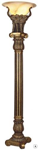 Antique-style Floor Lamp, (Gold Antique Floor Lamp)