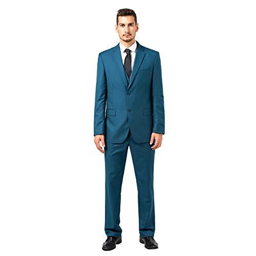 b070ca9414d Yanlu Slim Fit Wedding Suits 3 Pieces Men Suits Groom Tuxedos 2 Buttons at  Amazon Men s Clothing store